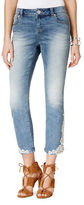 I.N.C International Concepts Petite Petite Crochet Cropped Jeans