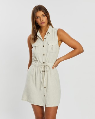 Atmos & Here Alexi Button Front Pocket Dress