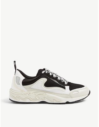 Sandro Flame leather and mesh trainers