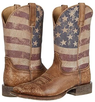 Ariat Circuit Proud (Naturally Distressed Brown/Distressed Flag) Cowboy Boots