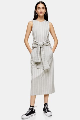 Topshop Stripe Wrap Dress