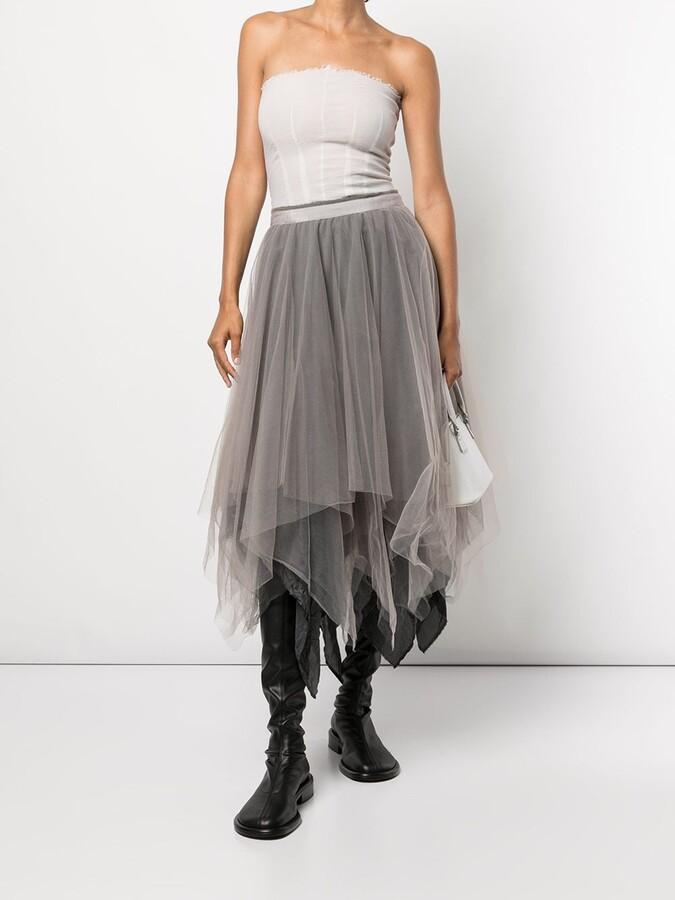 Thumbnail for your product : Marc Le Bihan Handkerchief-Hem Ombre Skirt