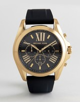 Michael Kors MK8578 Bradshaw Leather Watch In Black 47mm