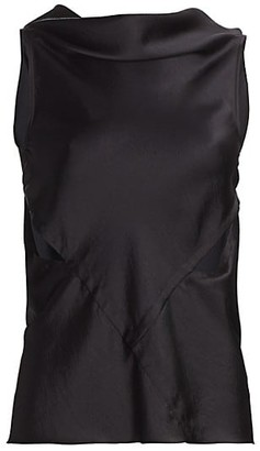 Rick Owens Skorpio Cutout Satin Top