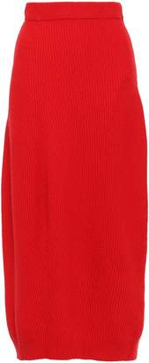 Jil Sander Ribbed Wool And Cashmere-blend Midi Skirt