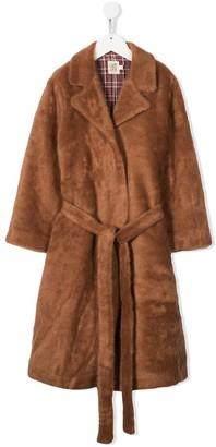 Caffe' D'orzo Faux-Fur Mid Coat