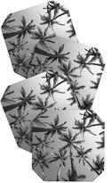 DENY Designs Bree Madden Bw Palms Coaster Set