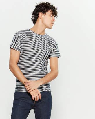 Bellfield Stripe Texture Short Sleeve Tee