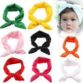 Roewell® Baby Elastic Hair Hoops Headbands and Girl's Fashion Headbands (8 pack)