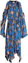 Loewe X Paula's Ibiza waterlily-print crepe maxi dress