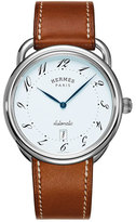 Hermes Arceau automatic watch on a Barenia strap