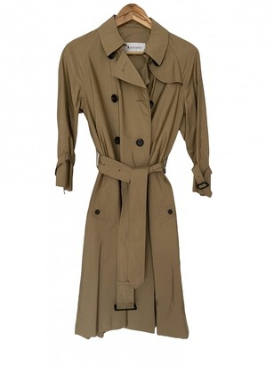 Aquascutum London Beige Silk Trench Coat for Women