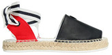 Armani Junior Leather & Cotton Canvas Espadrilles