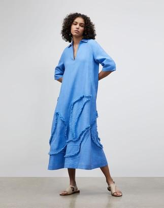 Lafayette 148 New York Sera Dress In Eyelash Embellished Summer Linen