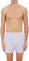 Barneys New York Men's Glen Plaid Cotton Poplin Boxers