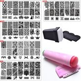 Bluezoo Nail Stamping Manicure Image Plates Accessories Kit *EL CONDOR PASA*2 Stampers and Scrapters Included For Diy Salon