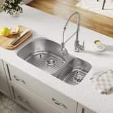 "MR Direct Stainless Steel 35"" x 21"" Double Basin Undermount Kitchen Sink MR Direct"