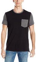 Kenneth Cole Reaction Men's Short Sleeve One Pocket Colorblock T-Shirt