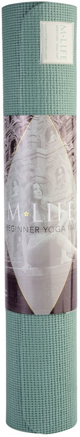 M Life Eco Beginner's 4mm Yoga Mat, Sage