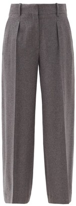 The Row Philly Cashmere Wide-leg Trousers - Dark Grey