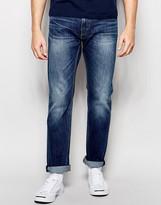 Levis Levi's Jeans 504 Straight Fit Stretch Cloudy Dark Worn Wash