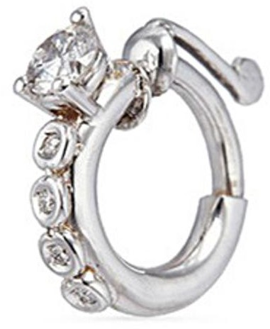 Delfina Delettrez Diamond 18k white gold single nose ring