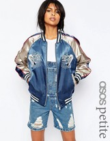 Asos Embroidered Bomber Jacket