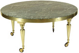 One Kings Lane Vintage Midcentury Italian Brass Coffee Table - The Barn at 17 Antiques - brass/green/white