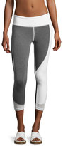 Vimmia Allegiance Athletic Capri Leggings, Gray/White
