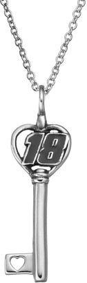 """Insignia Collection NASCAR Kyle Busch """"18"""" Stainless Steel Key Pendant Necklace"""