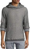 Sol Angeles Roma Cowl-Neck Snap Hoodie, Medium Gray