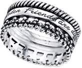 Unwritten Sterling Silver Friends Ring