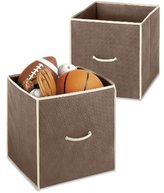 Whitmor Collapsible Fabric Cubes, Set of 2, Java