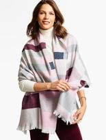 Talbots Blocked-Stripe Blanket Wrap