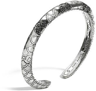 John Hardy Legends Black Sapphire Naga Sterling Silver Lava Slim Kick Cuff