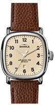 Shinola The Guardian Leather Strap Watch, 41mm
