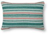 Threshold Striped Lumbar Pillow - Turquoise Diamond Dot