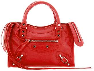 Balenciaga Mini Bag Classic Mini City Bag In Genuine Leather With Logoed Shoulder Strap