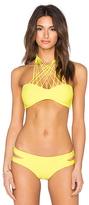 Mikoh Kahala Front Criss Cross Halter Bikini Top