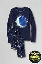 Classic Girls Snug Fit Pajama Set-Midnight Navy Print