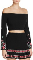 RahiCali Poppy Embroidered Crop Top