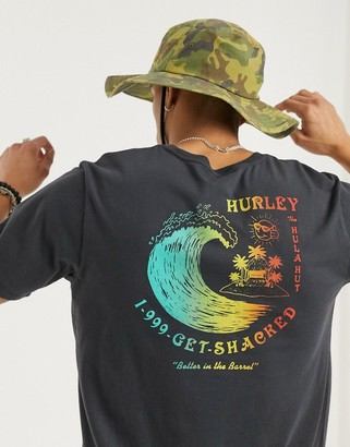 Hurley Get Shacked t-shirt in gray