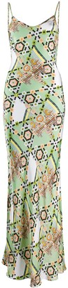 Temperley London Abstract Print Slip Dress