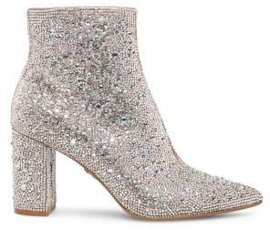 Betsey Johnson Blue Cady Embellished Booties