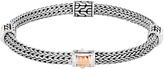 John Hardy Classic Chain 5MM Hammered Station Bracelet, Silver, 18K Rose