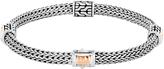John Hardy Women's Classic Chain 5MM Hammered Station Bracelet, Sterling Silver, 18K Rose