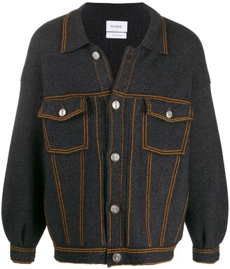 Barrie Oversized Denim-Style Jacket