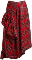 Preen by Thornton Bregazzi Morgan tartan wool midi skirt