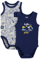 Absorba Hello World Tank Bodysuit - Pack of 2 (Baby Boys)