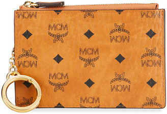 MCM Visetos Original Logo Zip Wallet